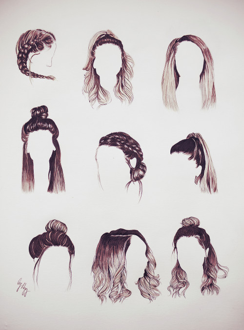 Easy Hairstyles To Draw  zoella drawing