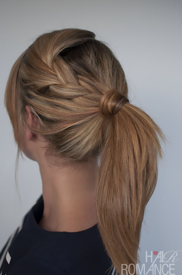 Easy Ponytail Hairstyle  Easy braided ponytail hairstyle how to Hair Romance