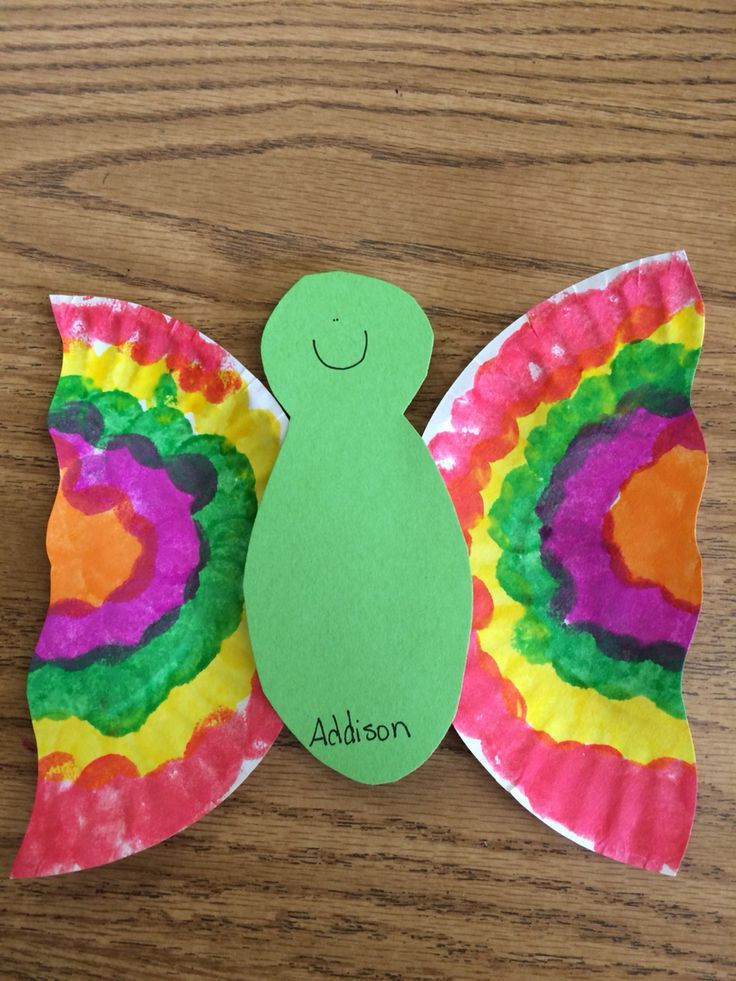 Easy Projects For Preschoolers  Easy paper plate butterflies
