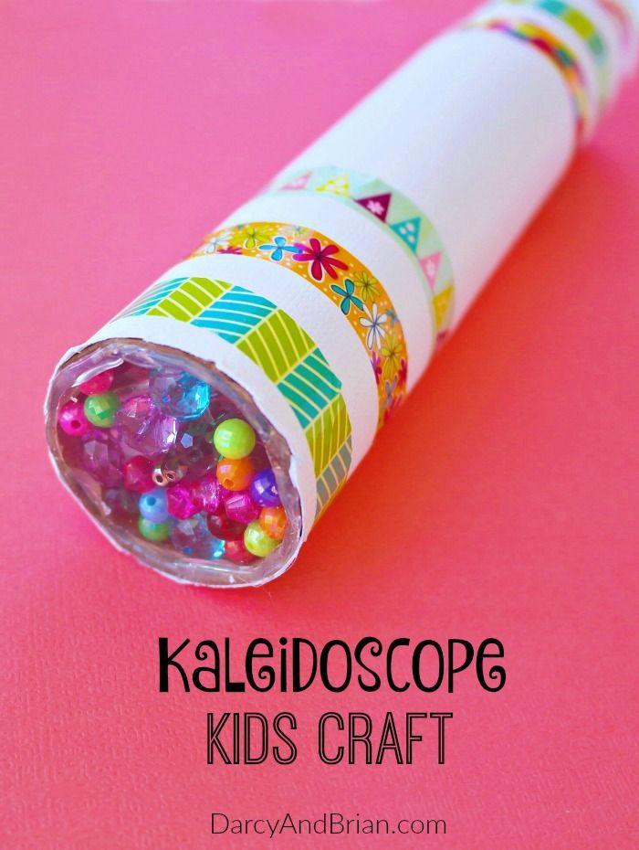 Easy Projects For Preschoolers  Fun DIY Kaleidoscope Kids Craft Tutorial [ ]