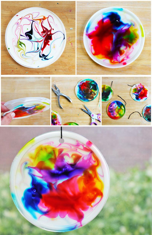 Easy Projects For Preschoolers  Art for Kids Cosmic Suncatchers Babble Dabble Do