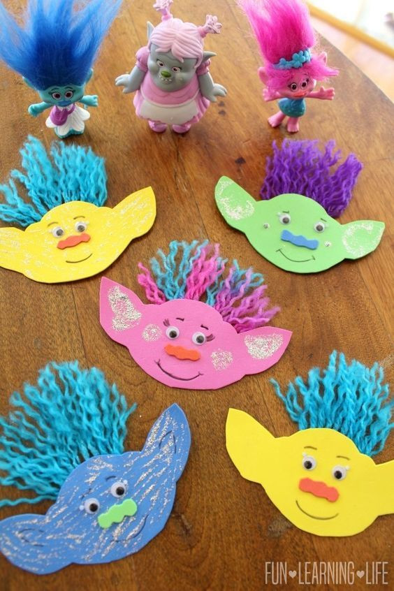 Easy Projects For Preschoolers  How To Make A Troll Magnet and Get Interactive With Trolls