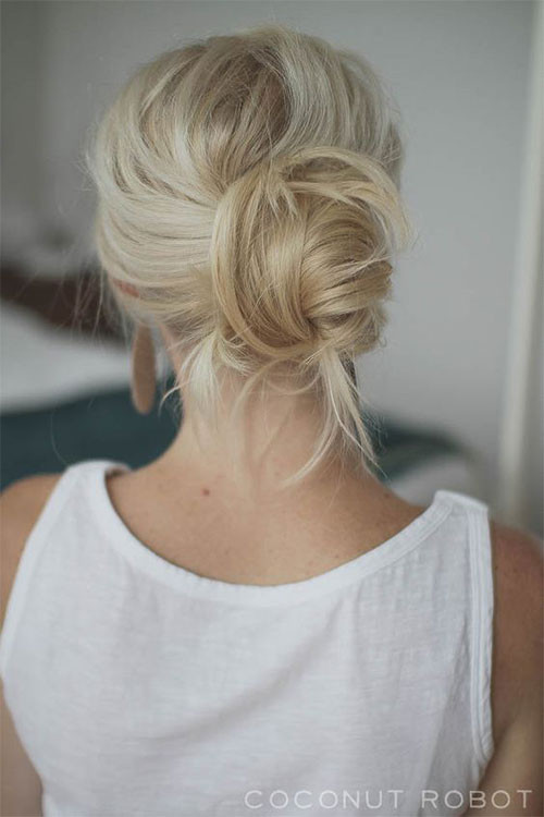 Best ideas about Easy Summer Hairstyles . Save or Pin 15 Easy Summer Hairstyle Bun 2016 Now.