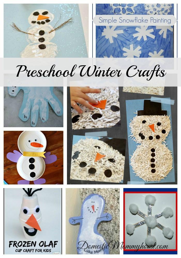Easy Winter Crafts For Preschoolers  Preschool Winter Crafts Domestic Mommyhood
