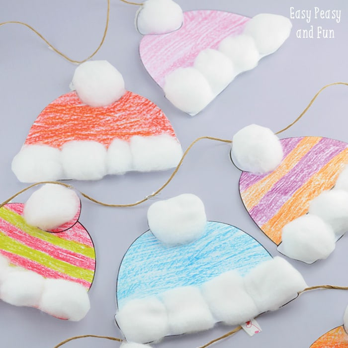 Easy Winter Crafts For Preschoolers  Winter Hats Craft for Kids Perfect Classroom Craft