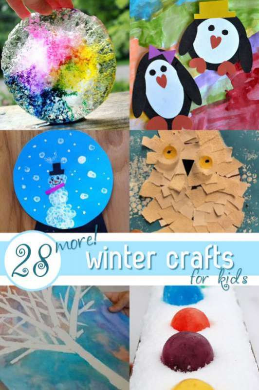 """Easy Winter Crafts For Preschoolers  """"SNOW"""" Many SIMPLE Winter Crafts for Kids to Make"""