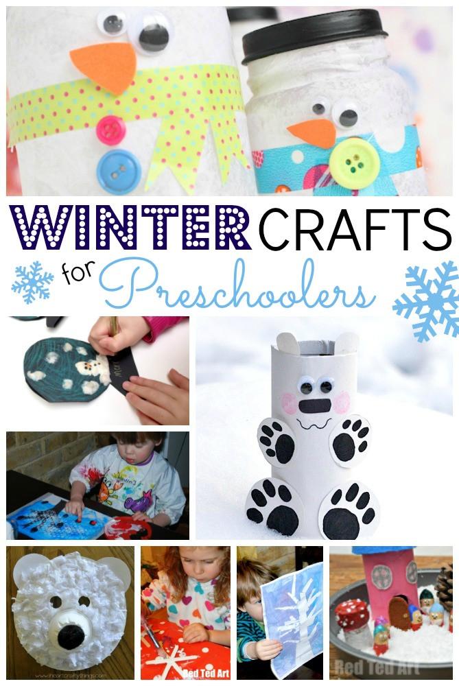 Easy Winter Crafts For Preschoolers  Easy Winter Crafts for Preschoolers Red Ted Art s Blog