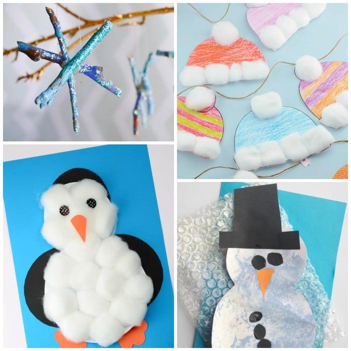 Easy Winter Crafts For Preschoolers  Simple Winter Crafts for Toddlers Easy Peasy and Fun