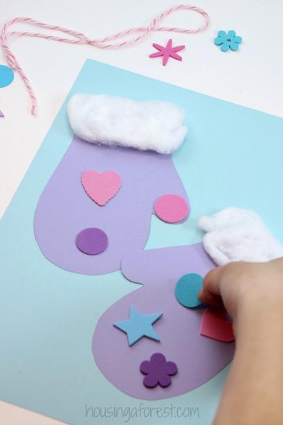 Easy Winter Crafts For Preschoolers  Winter Mitten Craft for Preschoolers