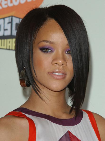 Edgy Bob Haircuts  Ponytail Hairstyles 2012 Rihanna Edgy Bob Hairstyle