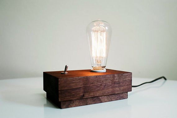 Best ideas about Edison Desk Lamp . Save or Pin modern desk or side table lamp with edison bulb Handcrafted Now.