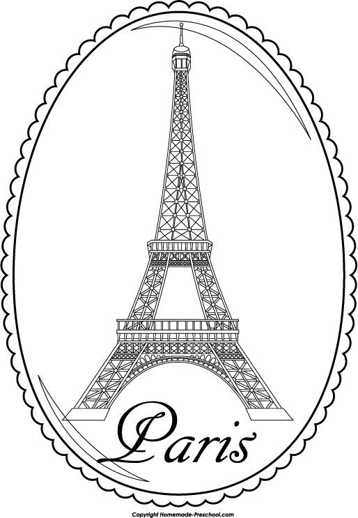 Eiffel Tower Coloring Sheets For Girls  Eiffel Tower Cartoon