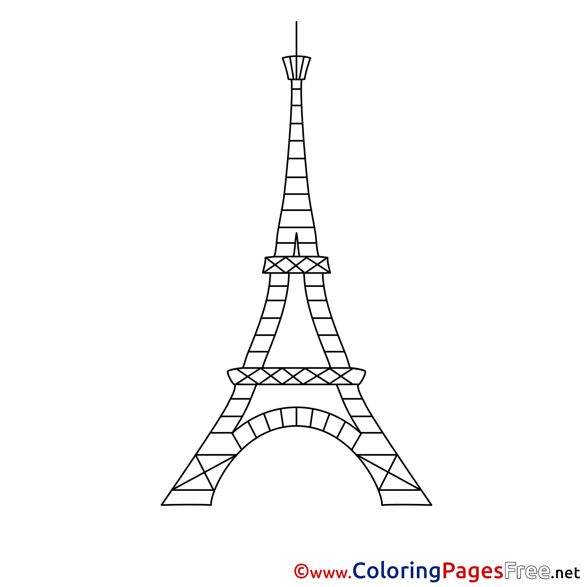 Eiffel Tower Coloring Sheets For Girls  Eiffel Tower Children Colouring Page
