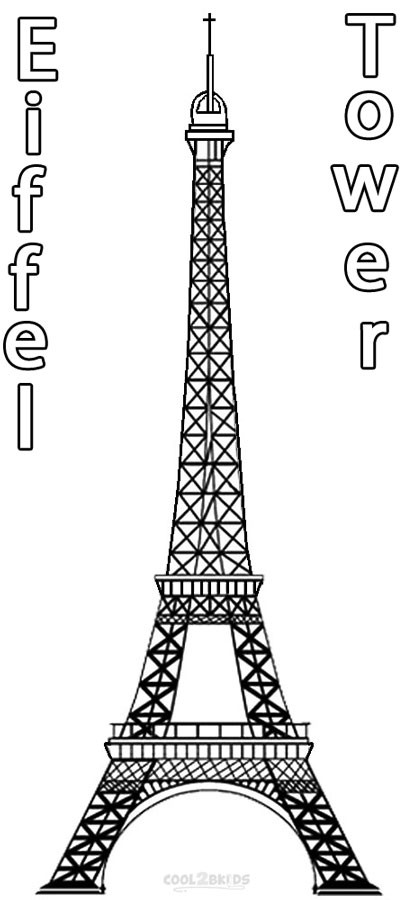 Eiffel Tower Coloring Sheets For Girls  free printable coloring pages eiffel tower eiffel tower