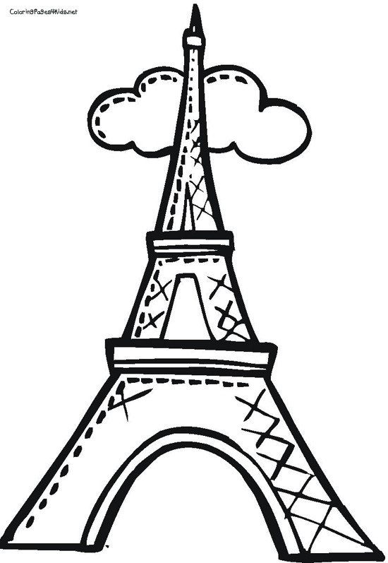 Eiffel Tower Coloring Sheets For Girls  Eifle Tower Coloring Eiffel Pages grig3