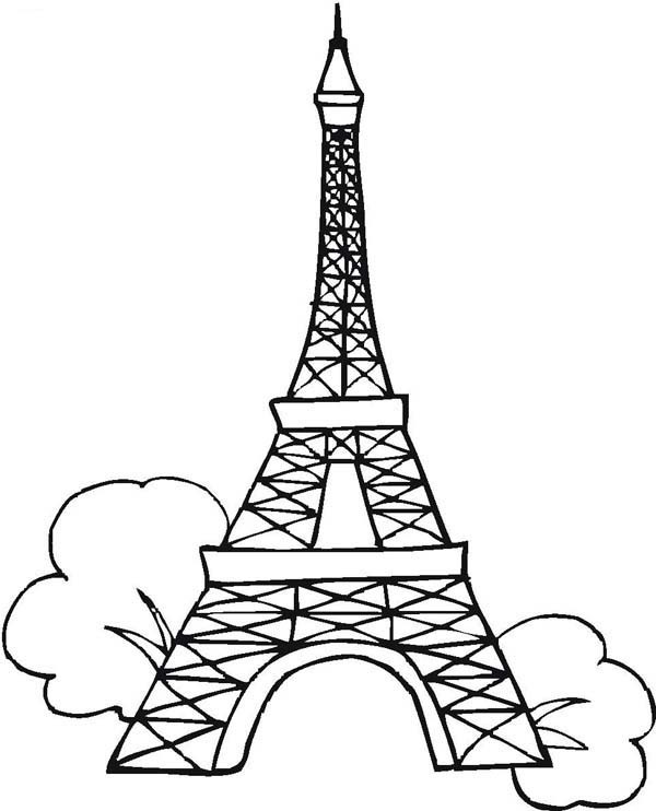 Eiffel Tower Coloring Sheets For Girls  7 Wonders The World Free Colouring Pages