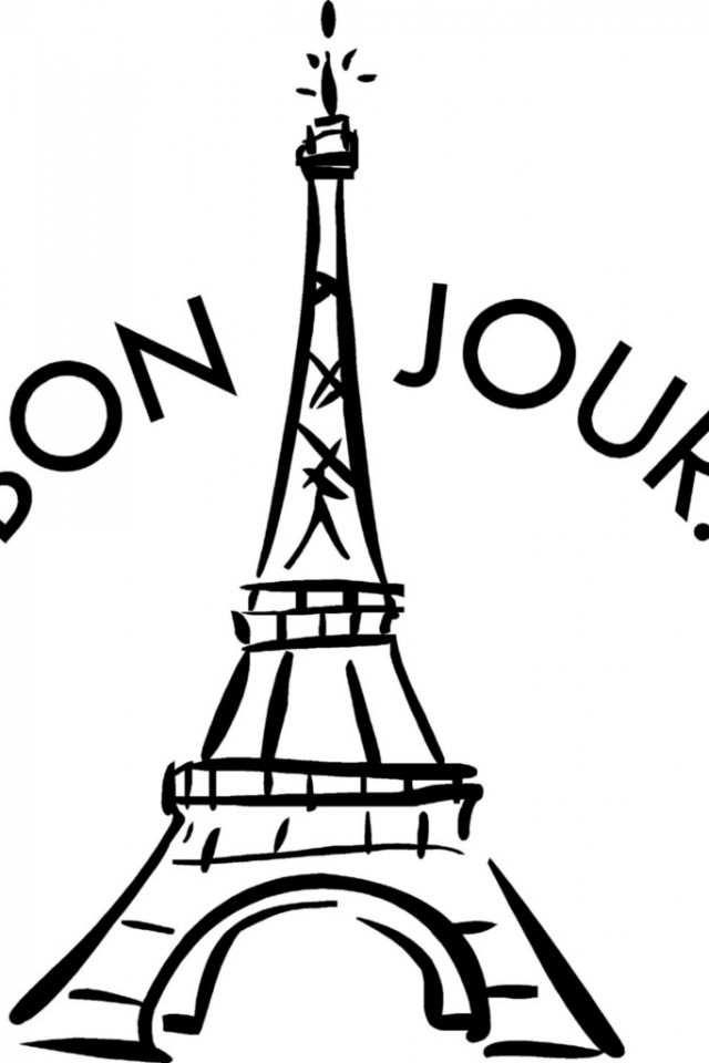 Eiffel Tower Coloring Sheets For Girls  Eiffel Tower Coloring Pages Bestofcoloring