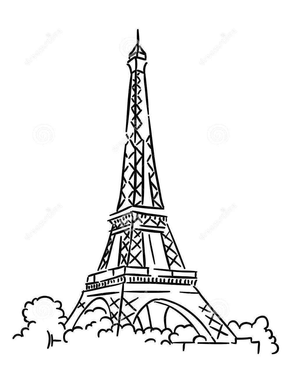 Eiffel Tower Coloring Sheets For Girls  Eiffel Tower Coloring Pages