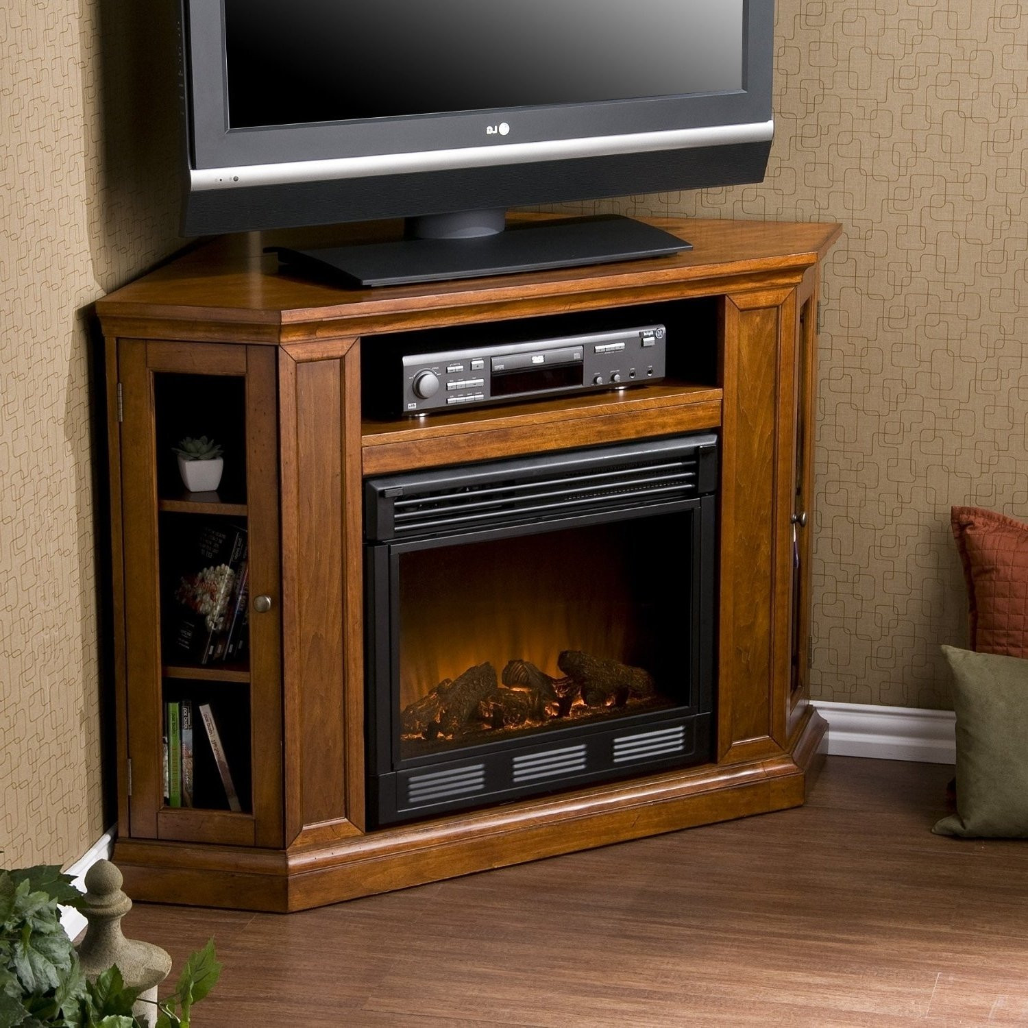Best ideas about Electric Fireplace Tv Stands Costco . Save or Pin Furniture Adorable Fireplace Tv Stand Costco For Any Now.