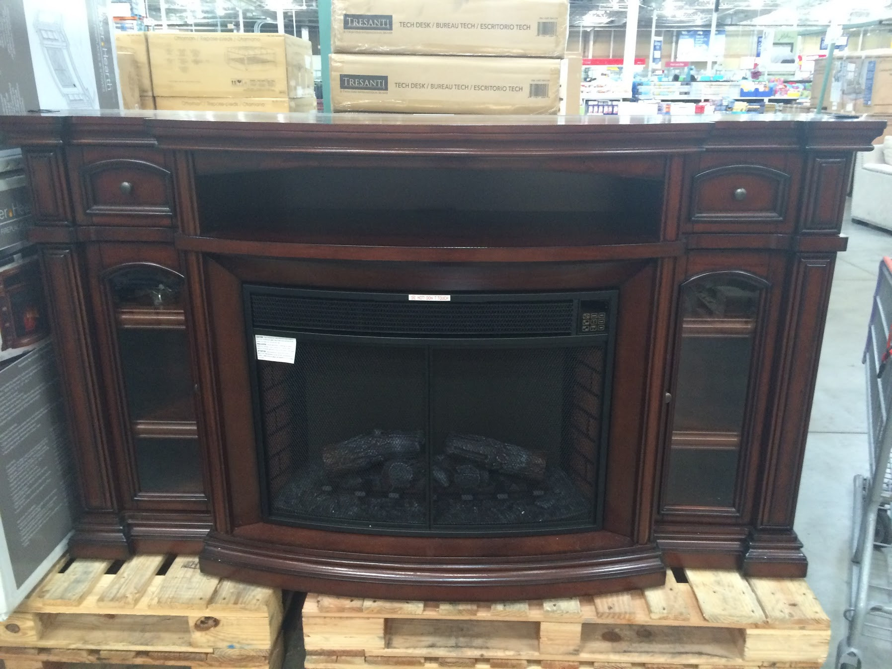 Best ideas about Electric Fireplace Tv Stands Costco . Save or Pin Electric Fireplace TV Console at Costco – Bud Costco Now.