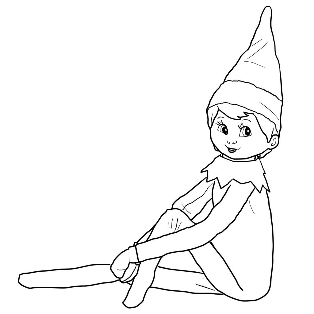Elf Coloring Pages Printable  Boy Elf The Shelf Coloring Pages – Color Bros