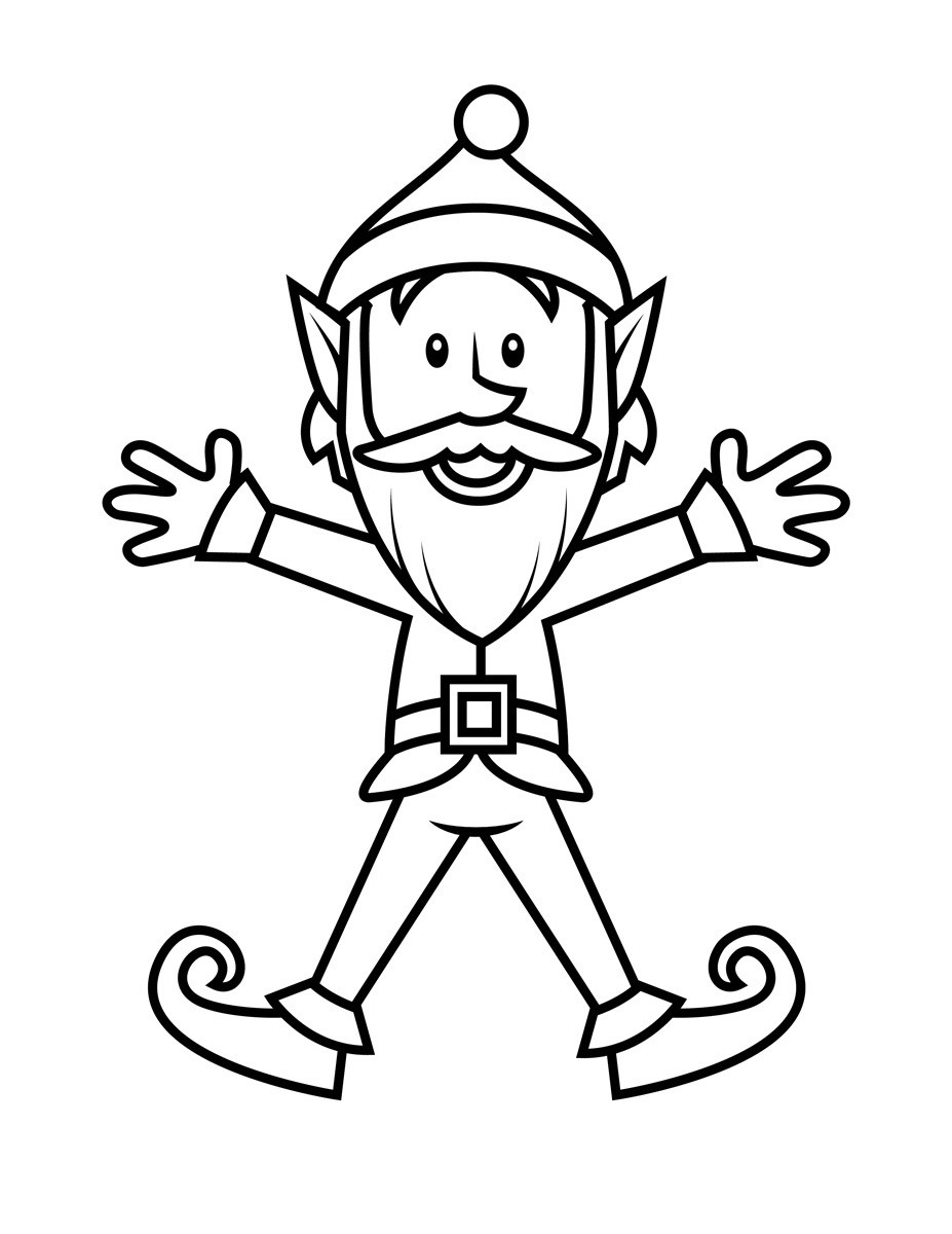 Elf Coloring Pages Printable  Free Printable Elf Coloring Pages For Kids