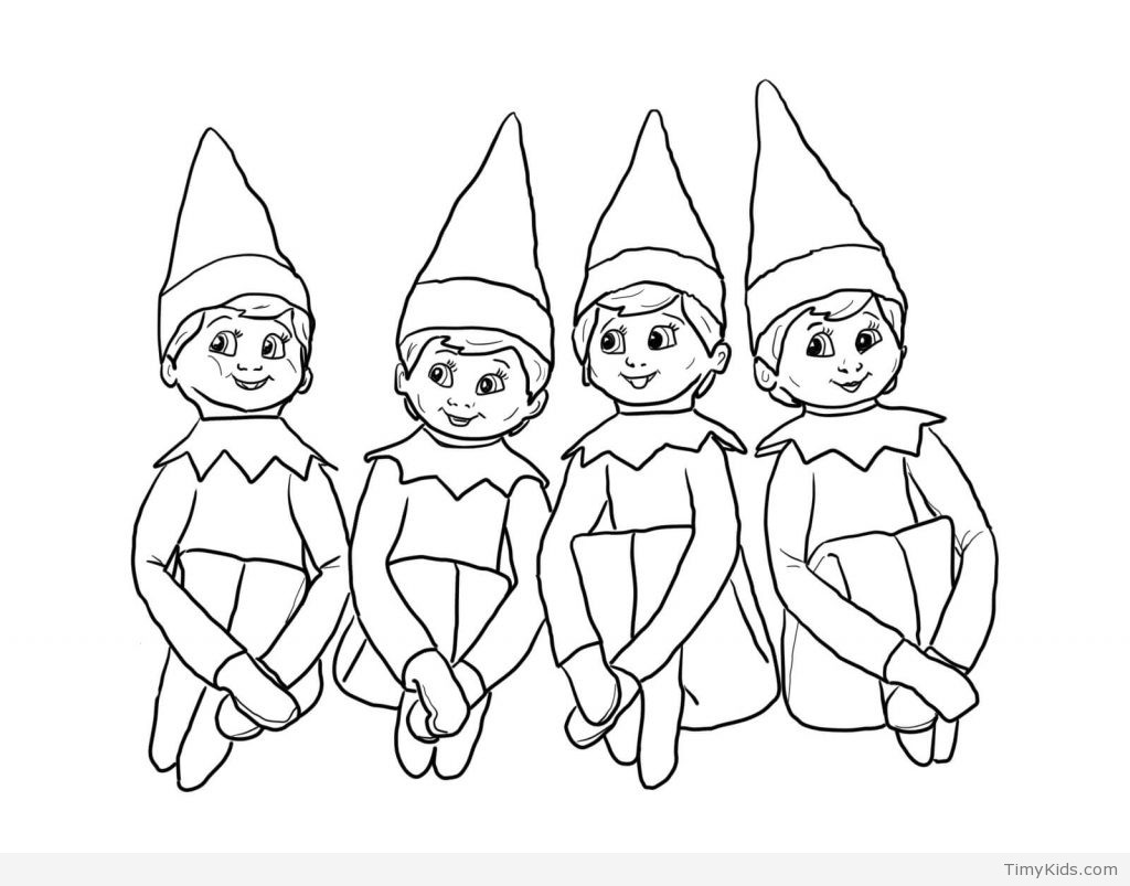 Elf Coloring Pages Printable  20 elf on the shelf coloring pages for kids