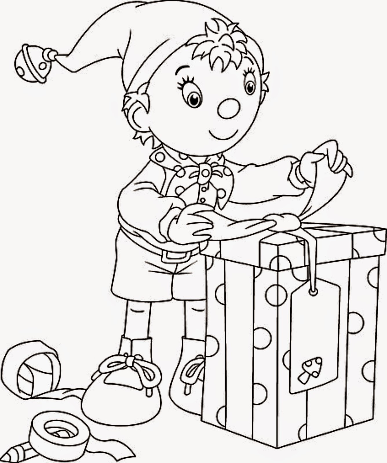 Elf Coloring Pages Printable  Coloring Pages Christmas Elf Coloring Pages Free and