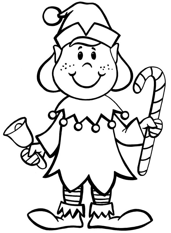 Elf Coloring Pages Printable  Christmas Elf Coloring Book Pages