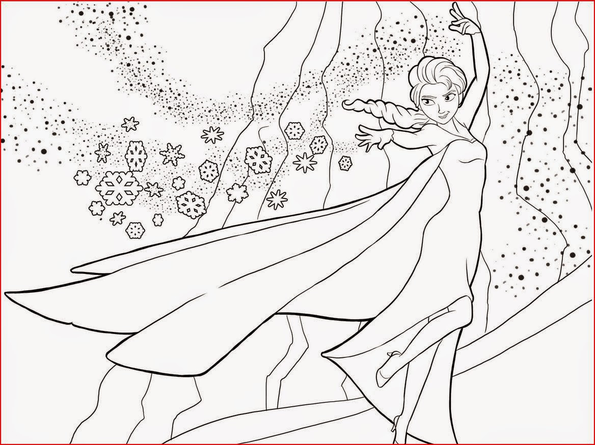 Elsa Frozen Coloring Pages  Coloring Pages Elsa from Frozen Free Printable Coloring Pages