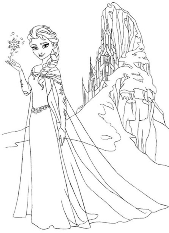 Elsa Frozen Coloring Pages  Frozen Coloring Pages
