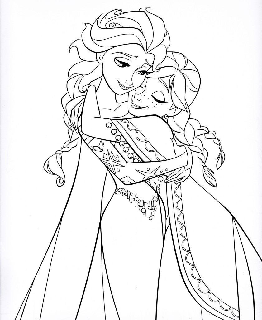 Elsa Frozen Coloring Pages  coloring pages anna and elsa