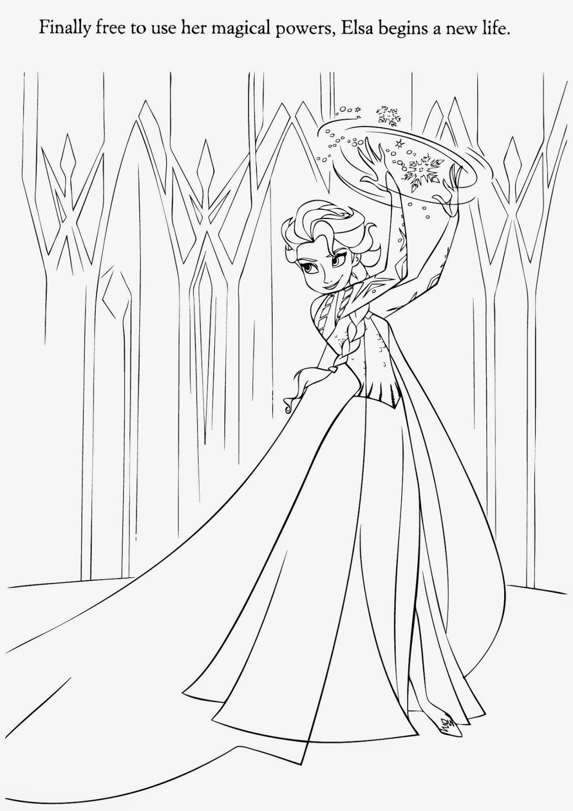 Elsa Frozen Coloring Pages  elsa frozen coloring pages