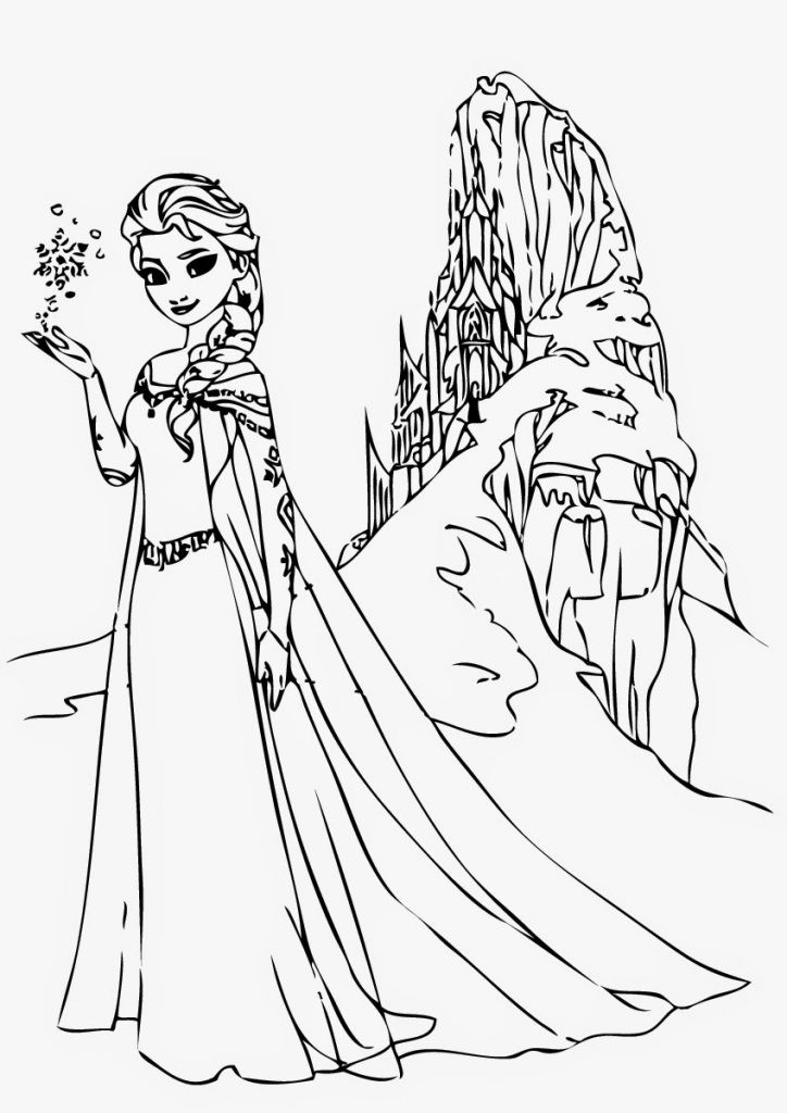 Elsa Frozen Coloring Pages  Free Printable Elsa Coloring Pages for Kids Best