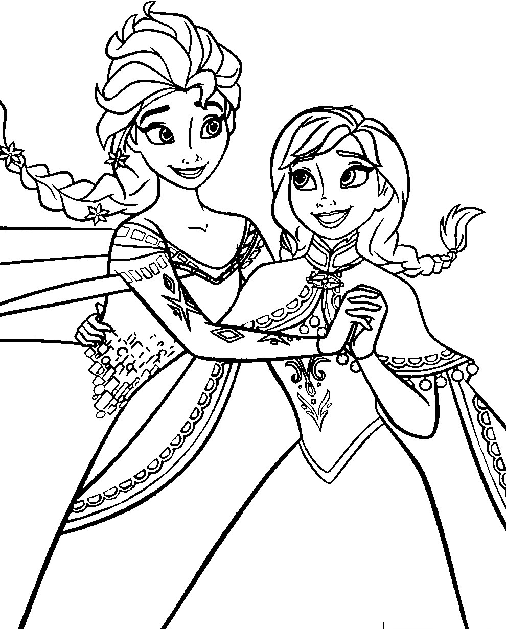 Elsa Frozen Coloring Pages  Disney Frozen Coloring Pages To Download