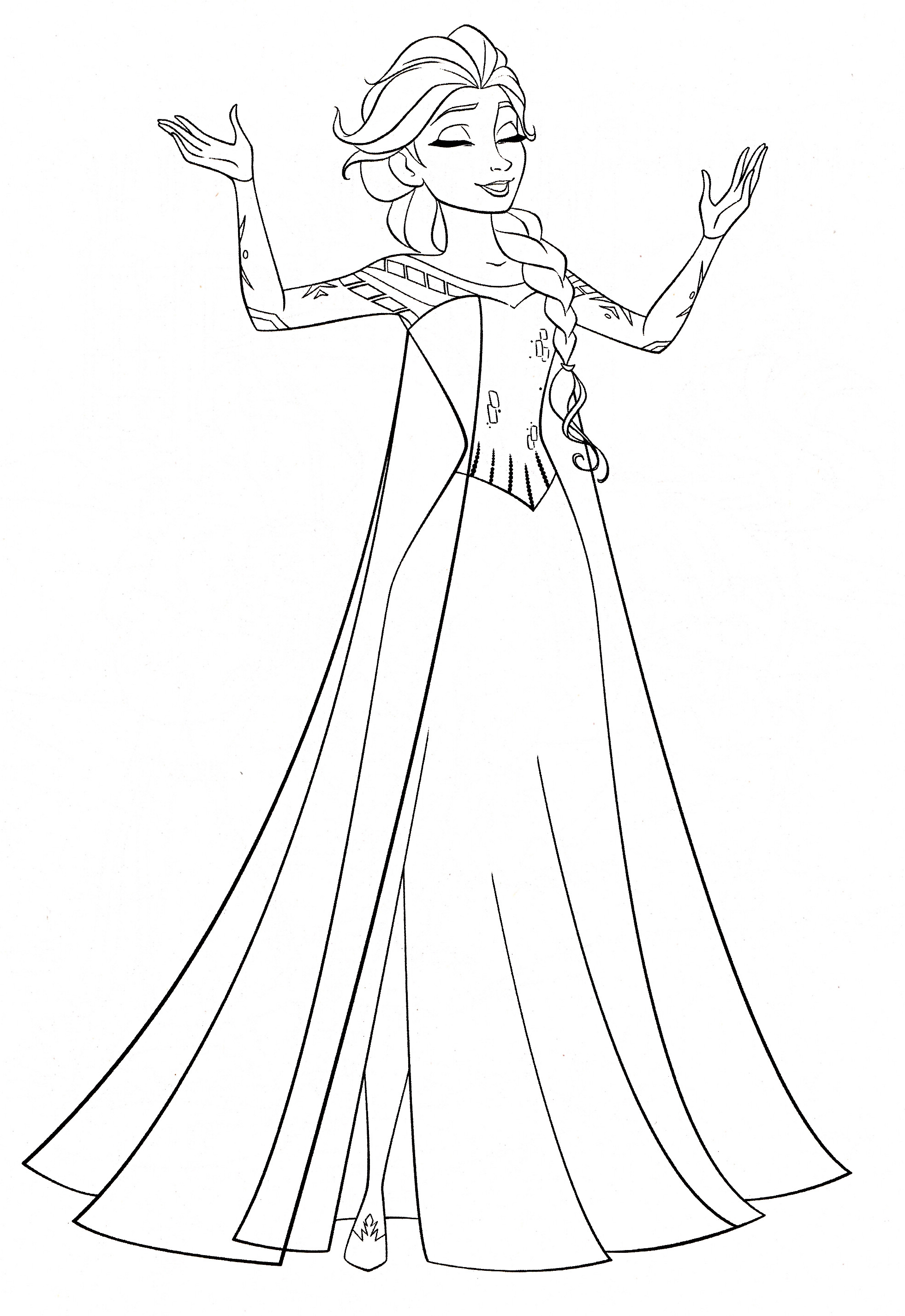 Elsa Frozen Coloring Pages  Frozen Coloring Page
