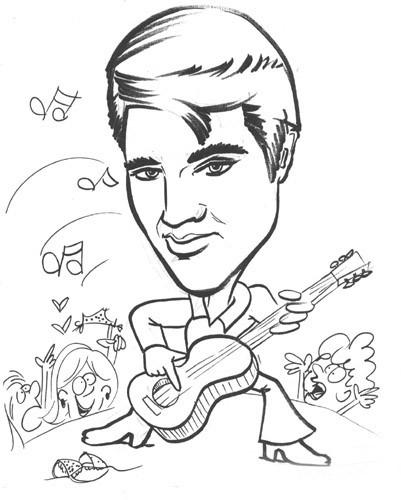 Elvis Presley Coloring Pages  Elvis Presley Coloring Pages Bestofcoloring