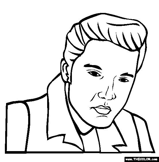 Elvis Presley Coloring Pages  FREE famous people coloring pages a ton of other