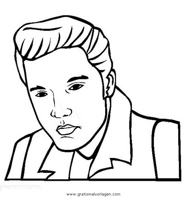 Elvis Presley Coloring Pages  elvis presley gratis Malvorlage in Beliebt04 Diverse