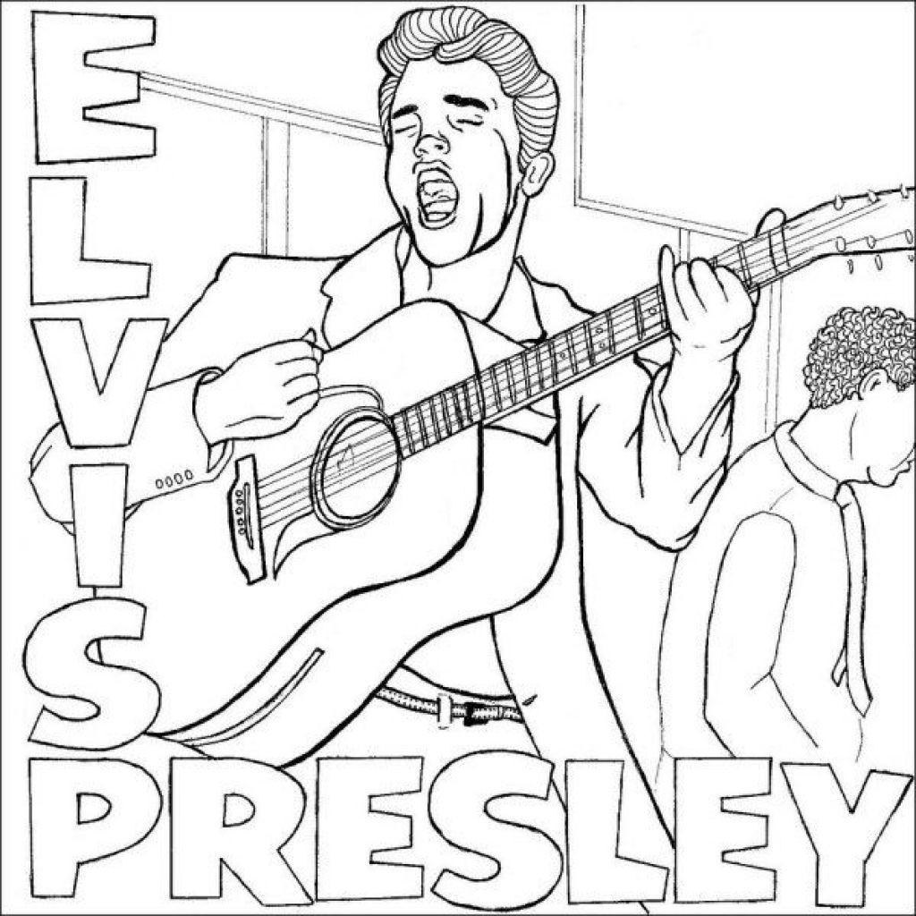 Elvis Presley Coloring Pages  Elvis Presley Coloring Pages regarding Encourage in