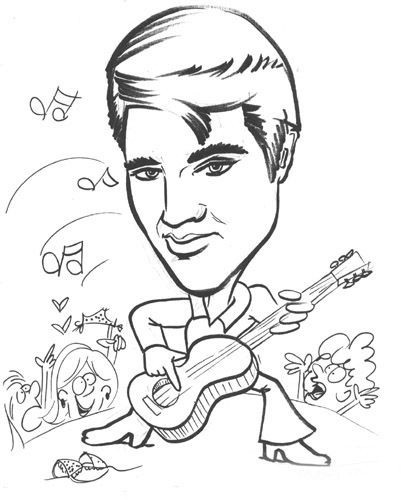 Elvis Presley Coloring Pages  Pin by Rebecca Stephan on C mon Color