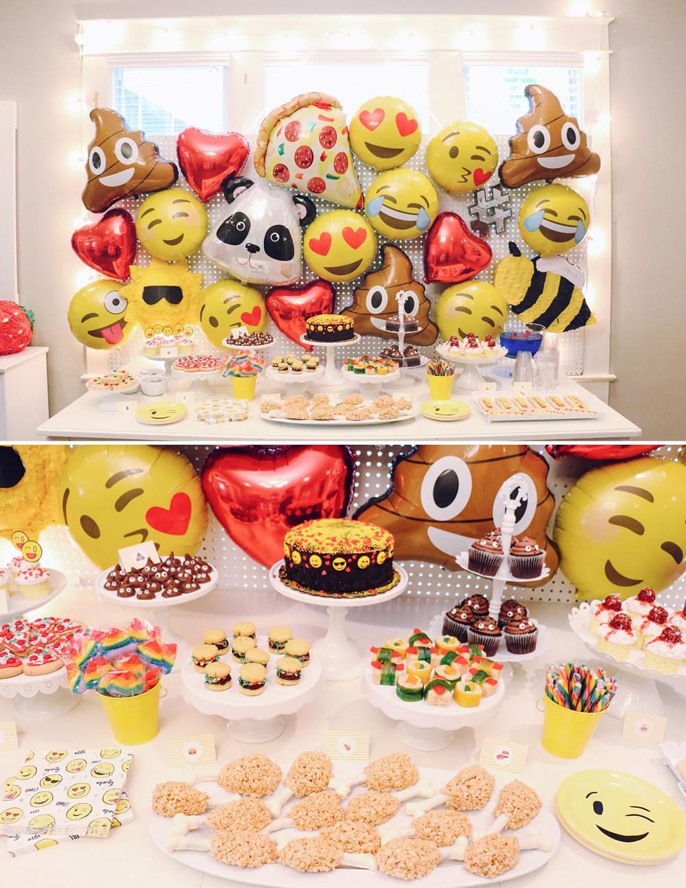 Emoji Birthday Decorations  Sophia's Emoji Birthday Party – At Home With Natalie