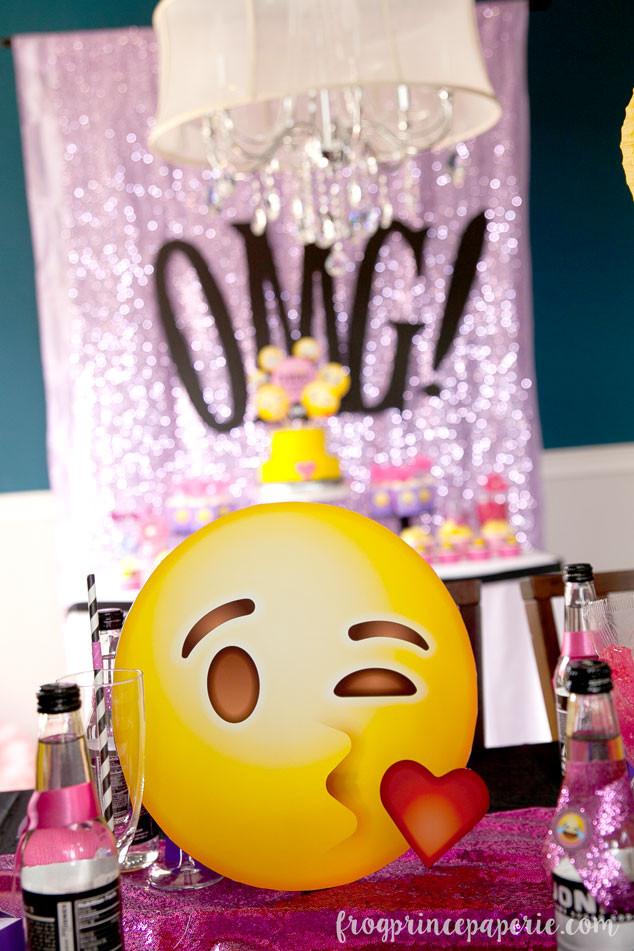 Emoji Birthday Decorations  Glam Emoji Birthday Party Ideas Page 2 of 3 Frog