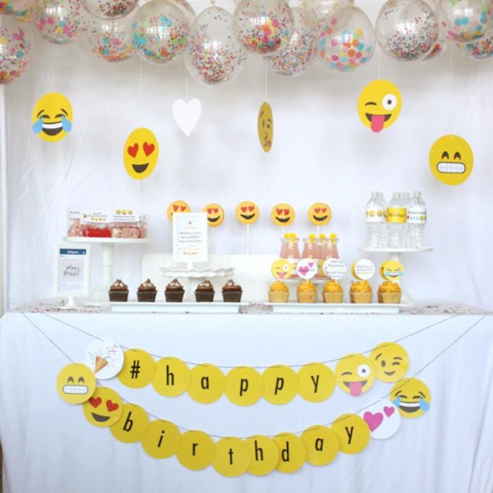 Emoji Birthday Decorations  Tema da Festa Emoji Guia Tudo Festa Blog de Festas