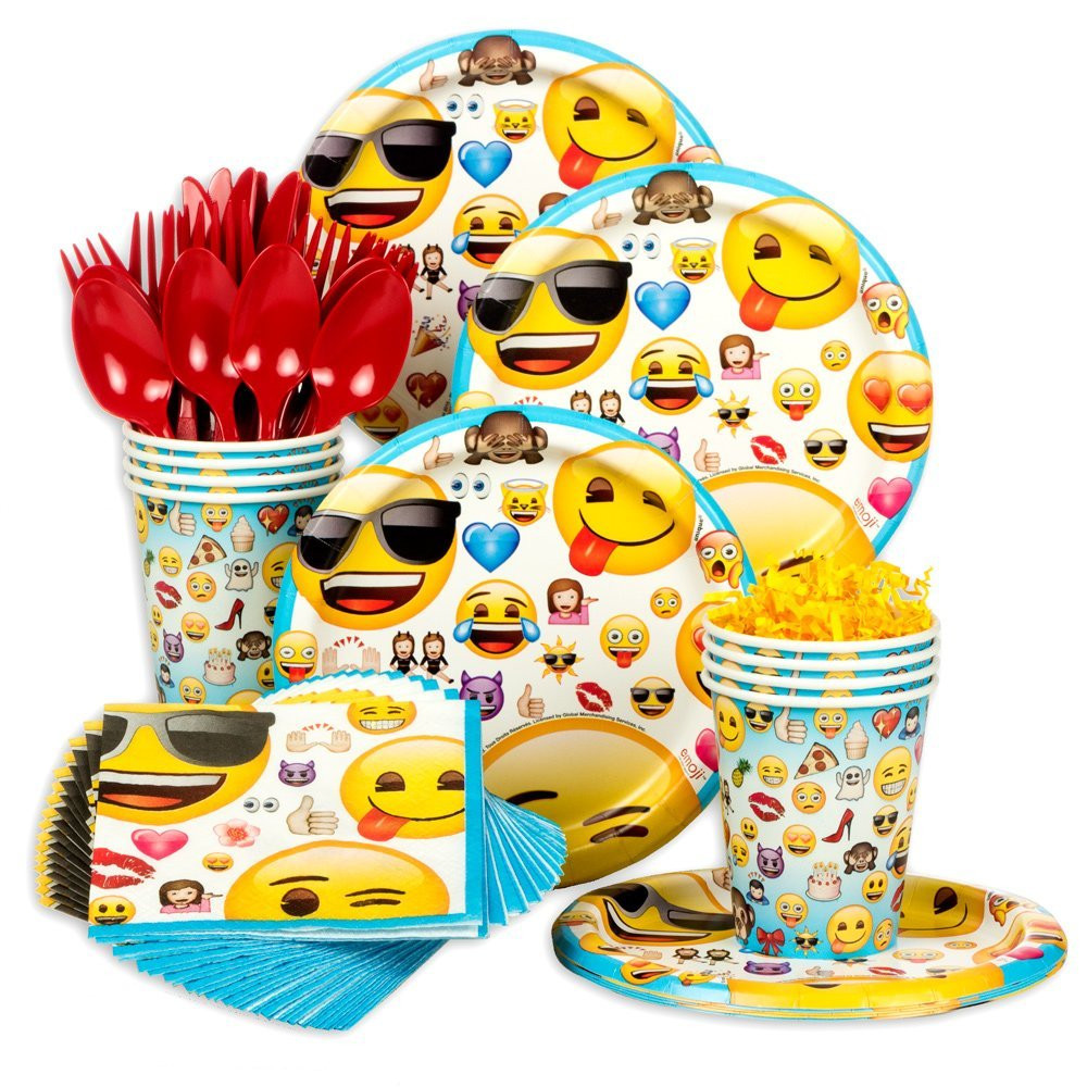Emoji Birthday Decorations  Musings of an Average Mom Emoji Party Printables