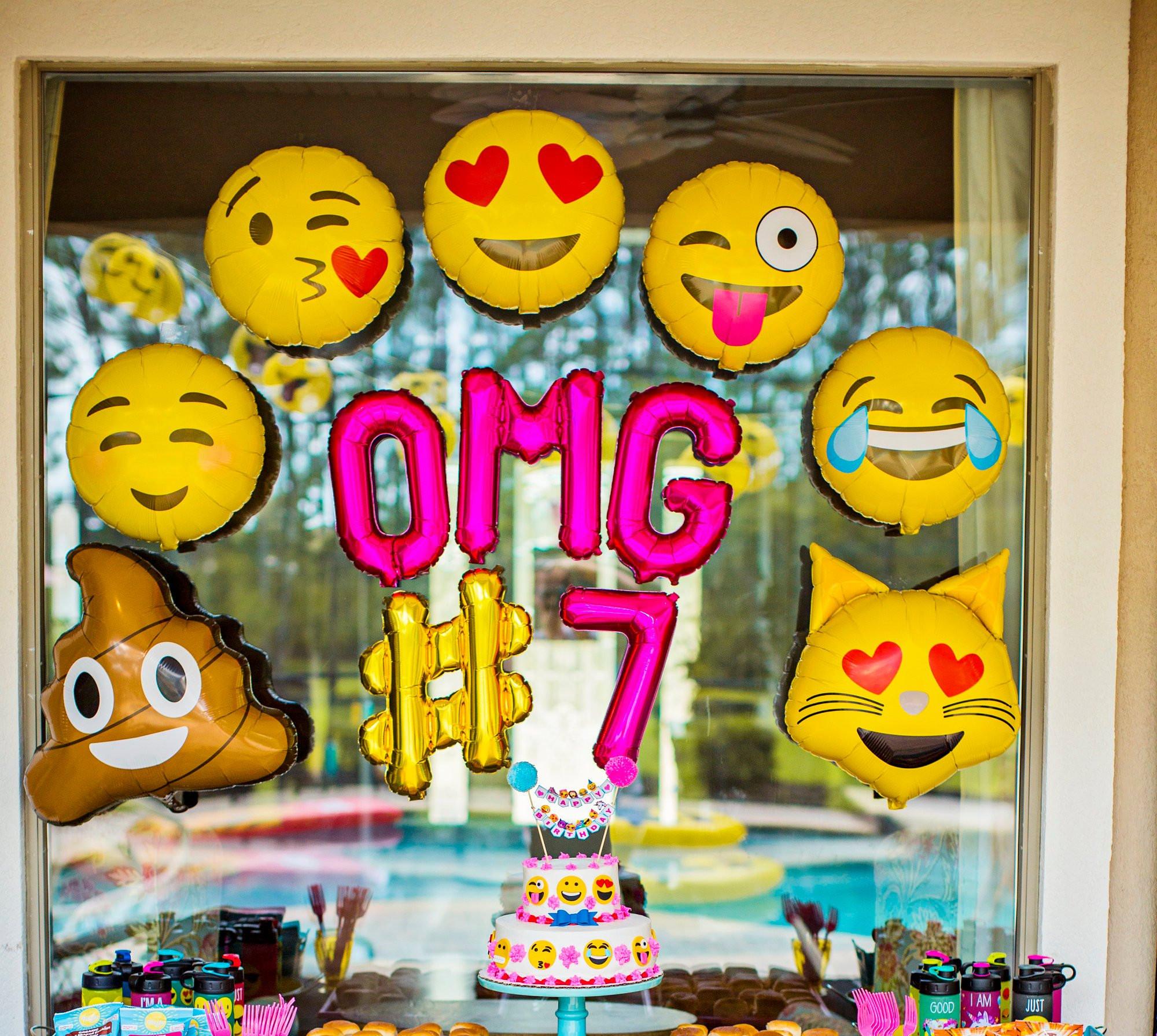 Emoji Birthday Decorations  Emoji Party Emoji Balloons OMG Party Emoji Decorations