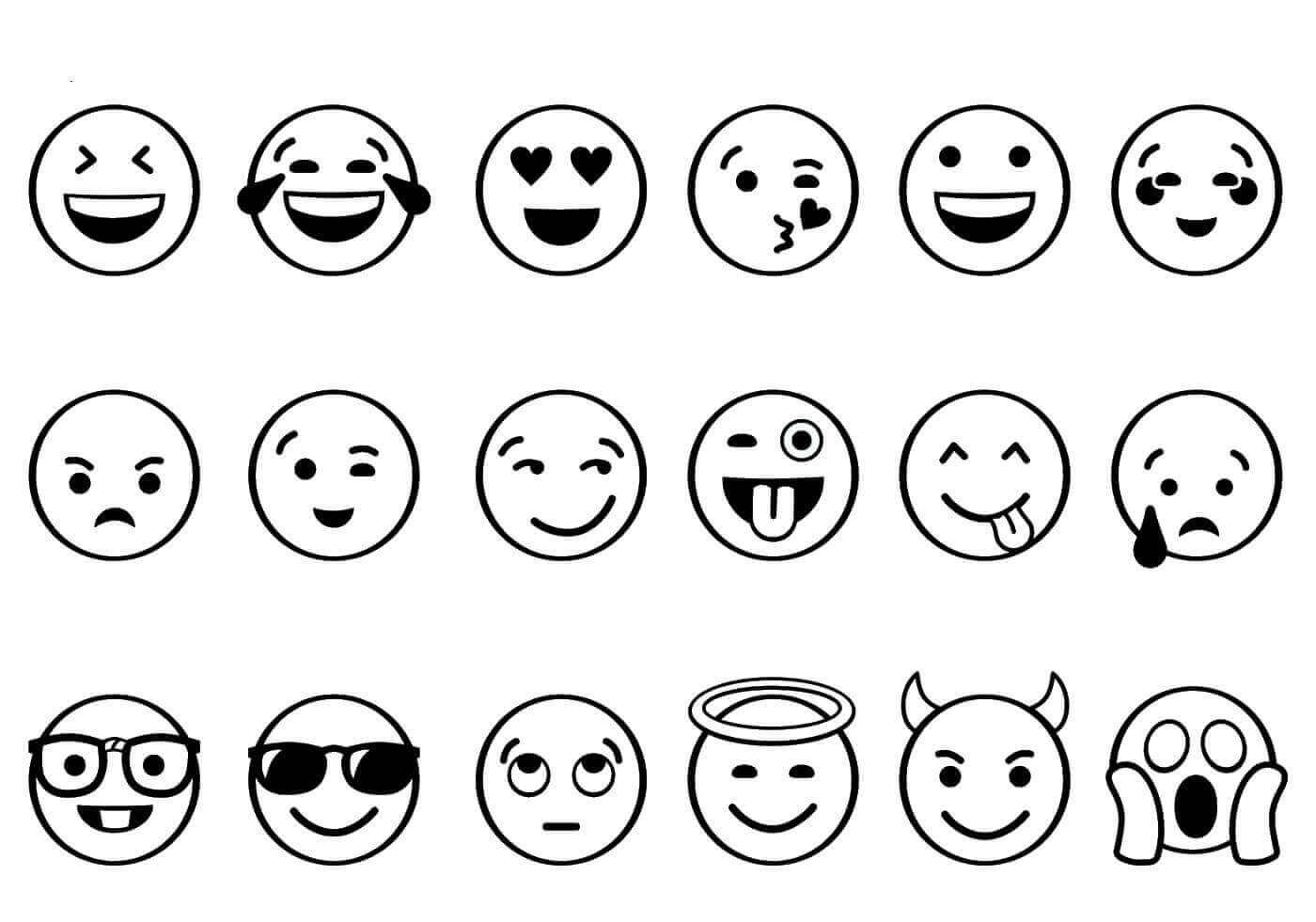 Emoji Printable Coloring Sheets  Free Printable Emoji Coloring Pages