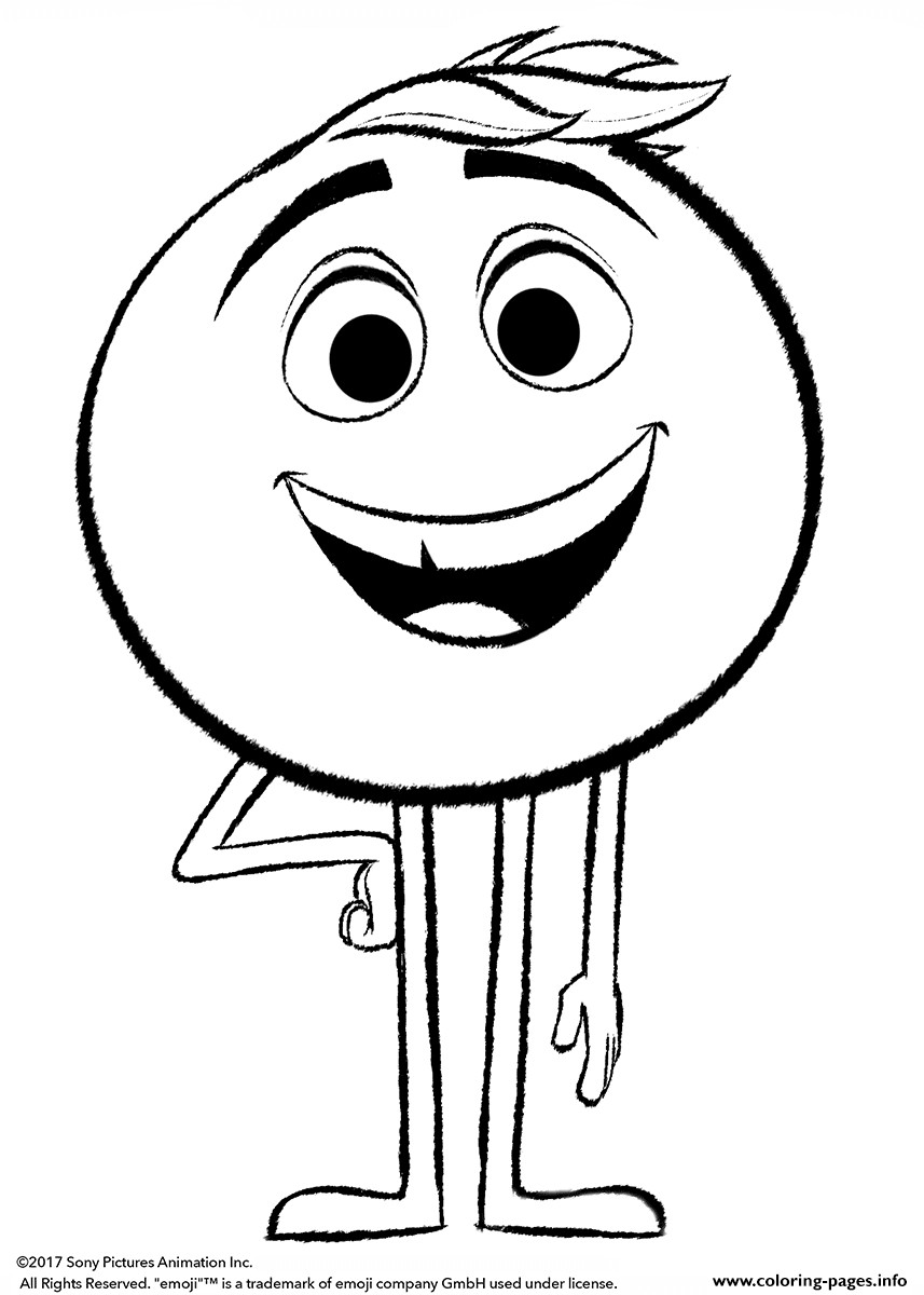Emoji Printable Coloring Sheets  Emoji Movie Gene Coloring Pages Printable