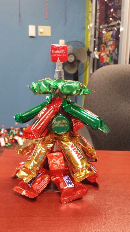 Employee Holiday Gift Ideas  My Christmas trees I made for my employees Use plastic