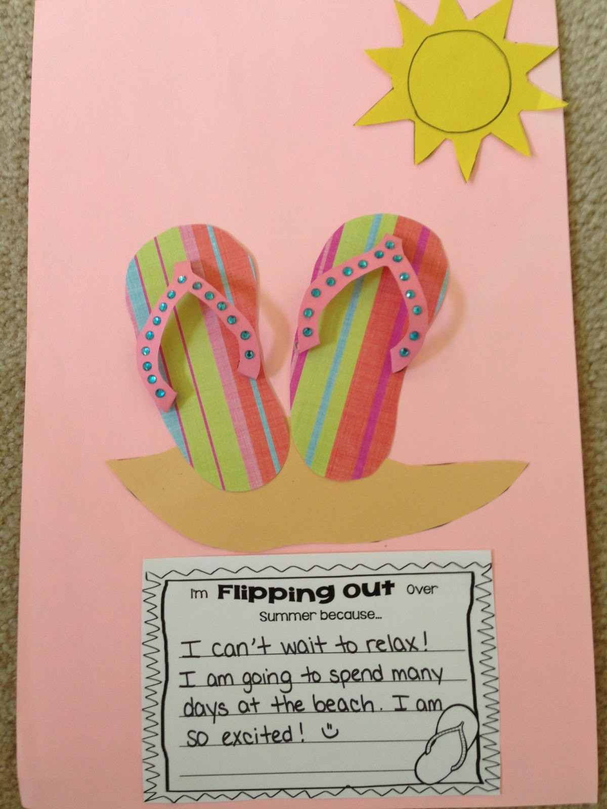 End Of The Year Crafts For Preschoolers  Learning is Something to Treasure Orange You Glad It s a
